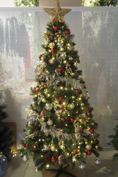 Decorated Christmas Trees Vanda Win Artificial Flowers Plants